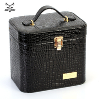 Women Alligator Cosmetic Box Designer High Quality Portable Cosmetic Bag Large Capacity PU Cosmetic Bag Women