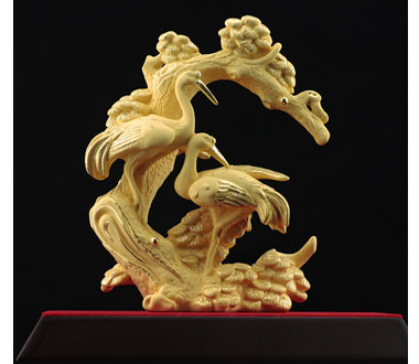 Alluvial Gold Ornaments Songhe Sickness Elderly Birthday Commemorative Gifts Had Retired Old Man Too