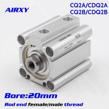 CQ2A/CQ2B bore 20mm Double Action single rod thin Compact Cylinder end female/male thread CQ2B20-20DZ CDQ2B20-25DMZ