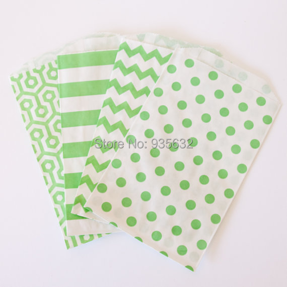 5000pcslot striped chevron polka dot colorful gift bags free shipping wedding favor bags bulk