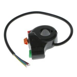 Image 1 - 1 шт. 3 в 1 7 контактный переключатель для мотоцикла, электрического велосипеда, скутера, квадроцикла светильник ла поворота, кнопка включения/выключения для руля диаметром 22 мм