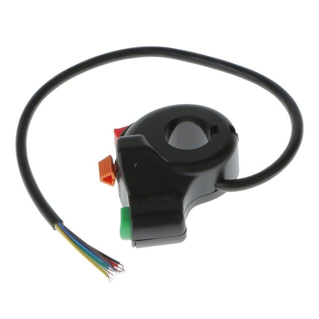 1 шт. 3 в 1 7 контактный переключатель для мотоцикла, электрического велосипеда, скутера, квадроцикла светильник ла поворота, кнопка включения/выключения для руля диаметром 22 мм