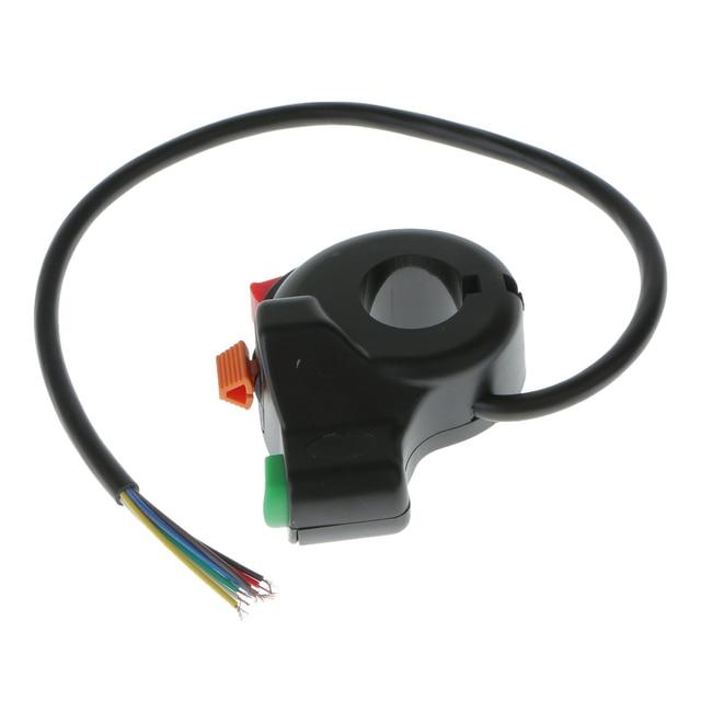 1 Uds 3 en 1 7 Pin interruptor de motocicleta Scooter de bicicleta eléctrica ATV Quad Light de cláxon, botón de encendido/apagado de intermitente para manillares de 22mm de diámetro