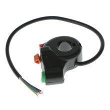 1 pçs 3 em 1 7 pinos interruptor da motocicleta bicicleta elétrica scooter atv quad luz turn signal chifre ligar/desligar botão para 22mm diâmetro guidão