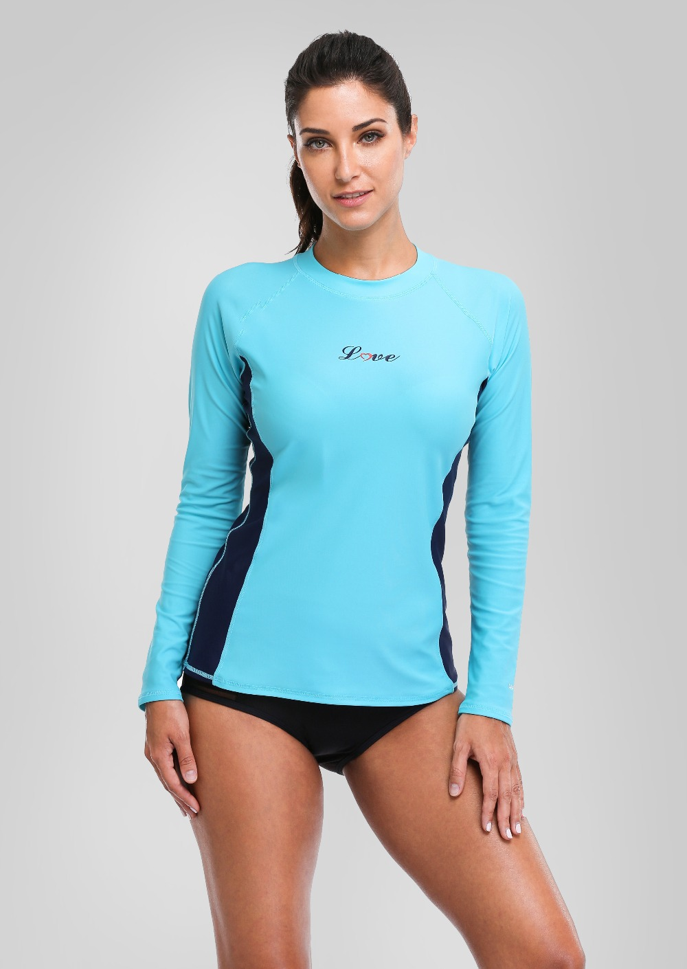 dc39e370b53 Charmleaks Women Rash Guards Swimwear Long Sleeve Rashguard Swim ...