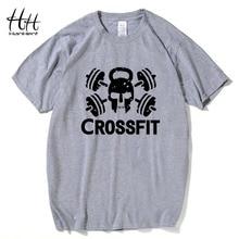 HanHent Fashion Crossfit T Shirts Men Short Sleeve T-Shirt Fitness Tops Tees Skull O Neck Cotton Bodybuilding Tee shirt Man
