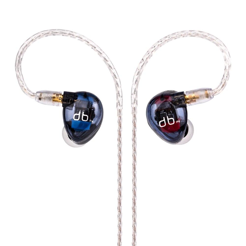 Wooeasy AUDBOS P4 в ухо наушник 4BA привод 4 балансных арматура HIFI в уши контрольные наушники со съемной кабель MMCX
