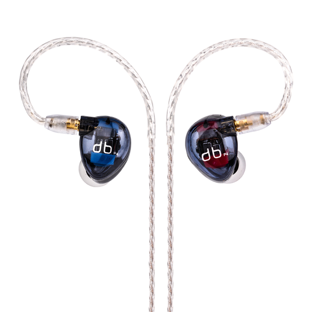Wooeasy AUDBOS P4 Dans L'écouteur D'oreille 4BA Unité D'entraînement 4 Armature Équilibrée HIFI Dans Le Suivi De L'oreille Écouteurs Avec Détachable MMCX câble