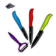 Nueva Llegada XYJ Marca Cuchillos De Cerámica Peeler + 3, 4, 5 pulgadas cuchillo de cocina de cerámica cuchillos sharp hoja de cocina herramientas de cocina regalos