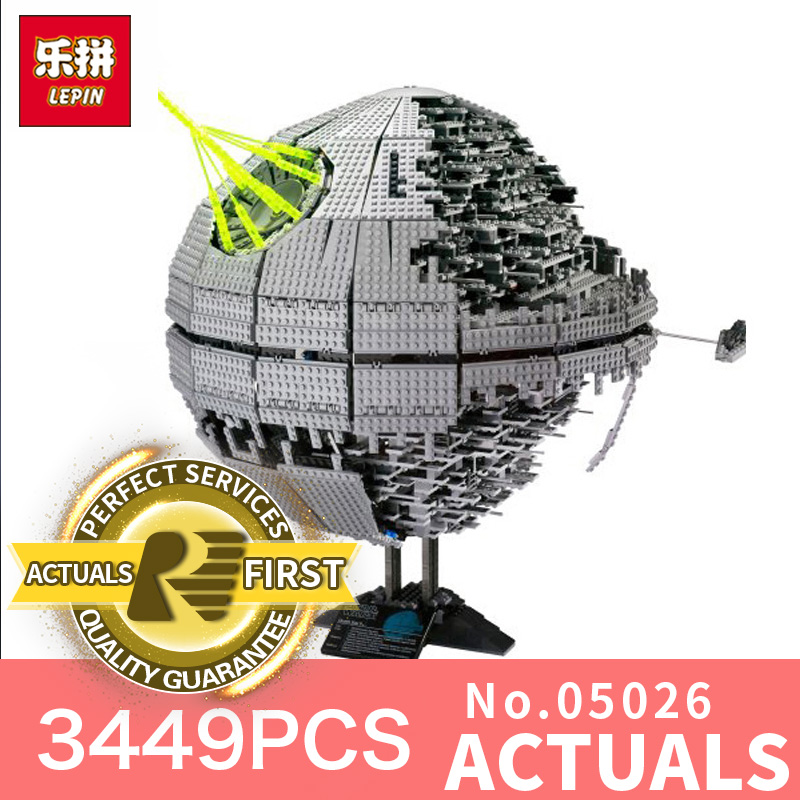 LEPIN 05026 Star Wars Death world war ii UCS Model Building Kits Blocks Bricks Children gifts toys for boys LegoINGlys 10143 star wars boys black