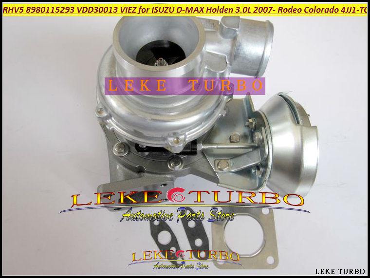 RHV5 8980115293 VDD30013 VIEZ Turbo Turbocharger For ISUZU D-MAX 3.0L CRD 2007- For HOLDEN Rodeo TD Colorado 4JJ1T 4JJ1-TC 163HP turbo for isuzu d max rodeo pickup 2004 4ja1 4ja1 l 4ja1l 4ja1t 2 5l 136hp rhf5 rhf4h vida va420037 8972402101 turbocharger