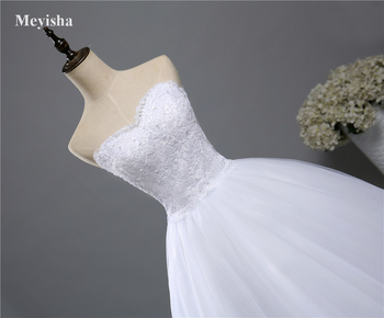 ZJ9022 Corset lace Beads strapless Sweetheart Lace White 2019 Wedding Dresses for brides plus size maxi formal - sale item Wedding Dresses