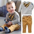 Wholesale 5 Sets/Lot New 2017 Baby Boys Long Sleeves T shirts Pants Clothes Sets Children Casual Suits Autumn Winter Clothes Set