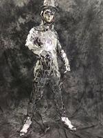 OISK Сексуальная певец блесток Корректирующие боди для женщин DS объектив косой Серебряная Звезда зеркало костюм мужские танцевальное шоу бо