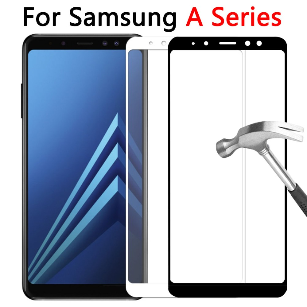 Protective Glass Case for Samsung Galaxy A3 A5 A6 Plus A8 2018 2017 2016 Trmpered Glas Screen Protector on A 3 5 6 8 3a 5a 6a 8a image