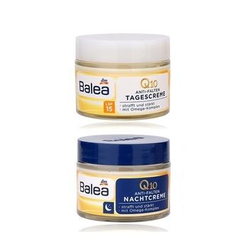 Germany Balea Q10 Anti-wrinkle Day Night Cream Vitamin E Cream Reduce Wrinkles Fine Lines Skin Care regeneration cream Vegan