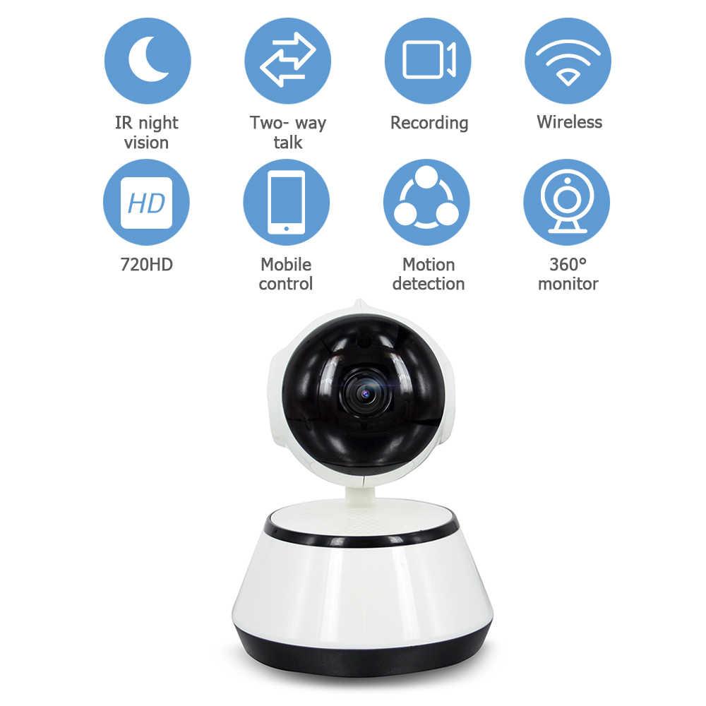 Беспроводной видеоняня 720P HD камера безопасности ночное видение Обнаружение