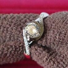 ТВЕРДОЕ ЗОЛОТО 14 к крученая форма предложение Ювелирное кольцо для женщин 0.5CT имитирует бриллиантовое обручальное кольцо Продвижение Белое золото ювелирные изделия
