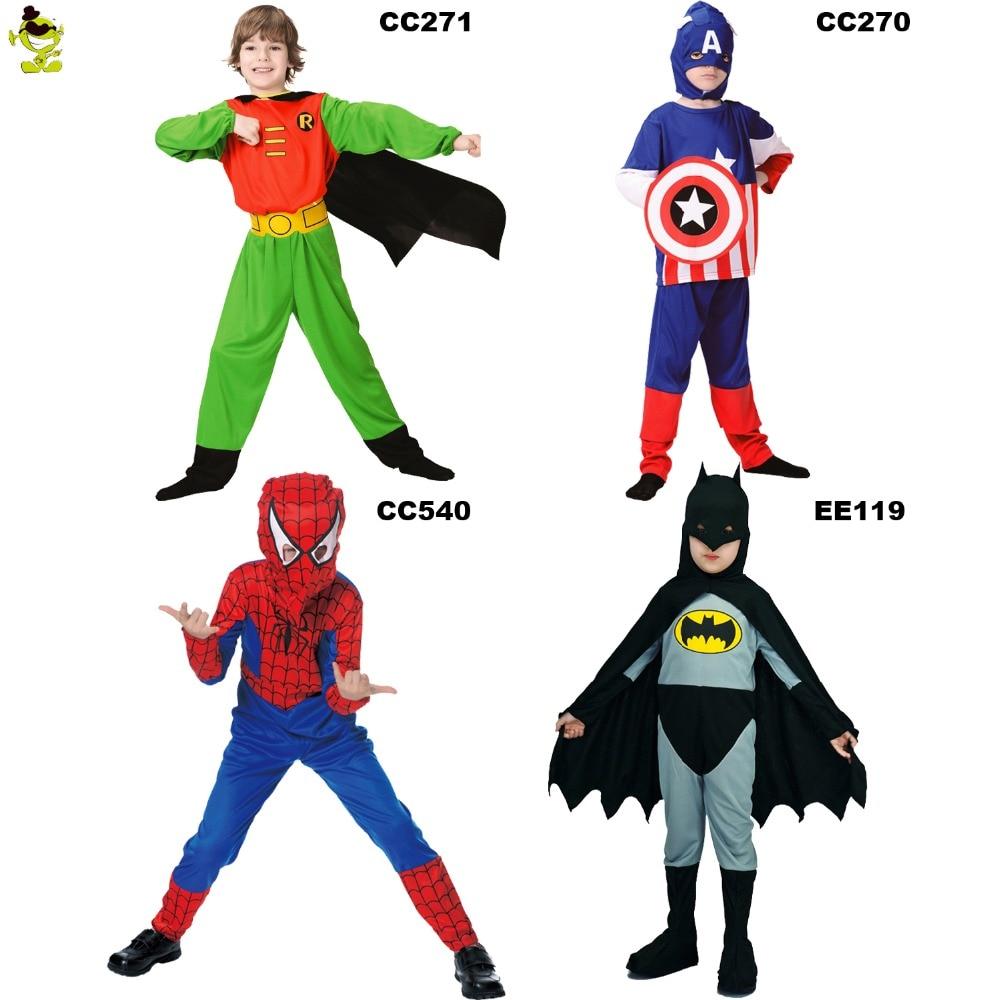 2017 QLQ Kids Superman Superhero Batman Robin Rocket Flash hero Halloween Cosplay Costume for children boys girls party