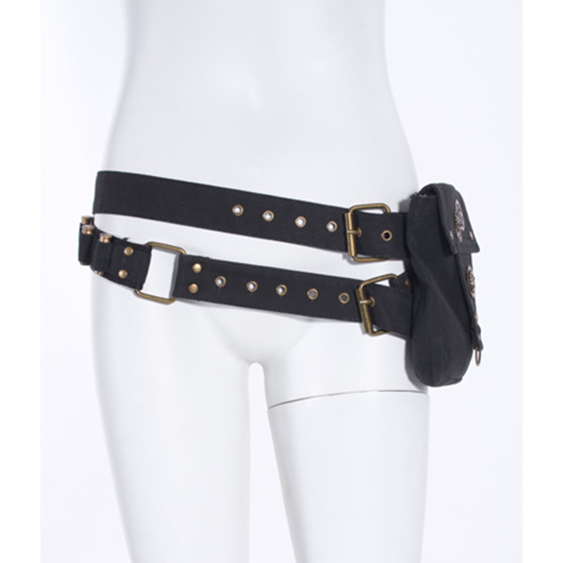Steampunk Women's   Belt   With Pocket Canvas Metal Novelty   Belts   Bullets Accessories 3 Colors Pockets   Belts   New Arrival