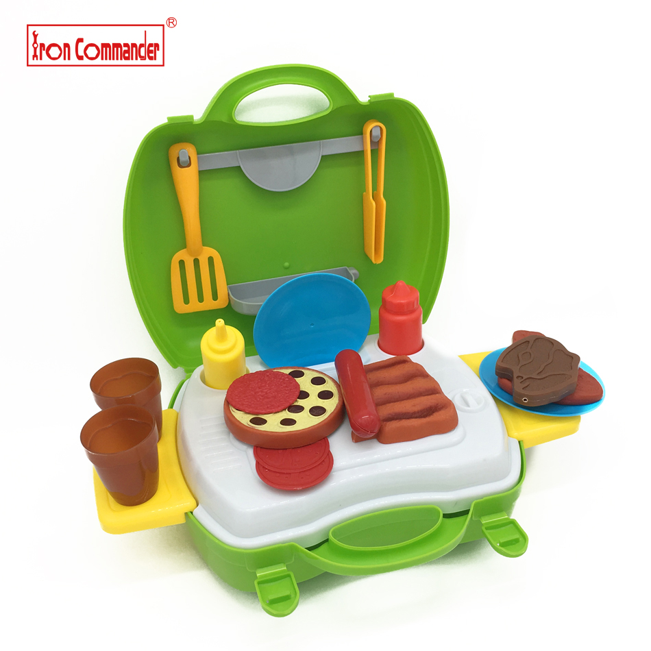 23pcs/set BBQ Kitchen Pretend Play Toys Cooking Toy Food Box Pretend & Play Children's Kitchen Playset Educational Baby Toys
