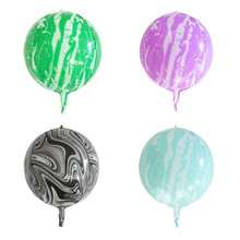 22inch Agate Color 4D Foil Balloons Wedding Balloon Supply Childrens Toys Happy Birthday Party Decoration Kids ballonen
