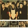 Rammstein cartaz Retro Vintage rock band music Guitarra Fosco Kraft Papel Poster Adesivo de Parede Casa Decora
