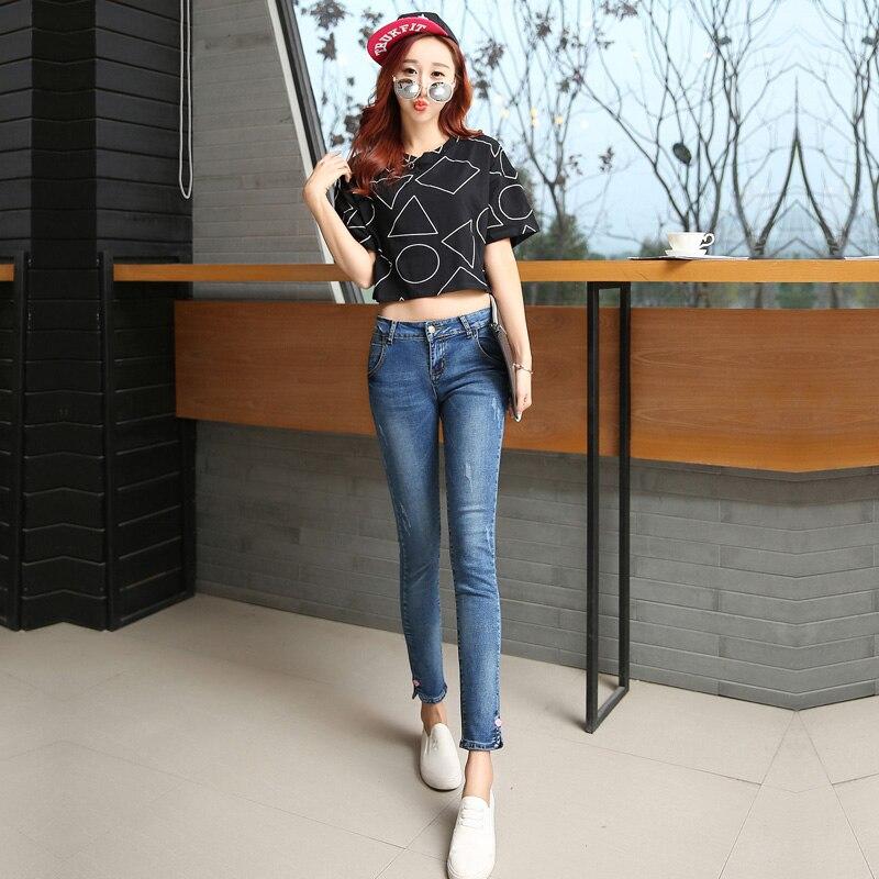 2016 spring jeans female Ms Slim pencil pants