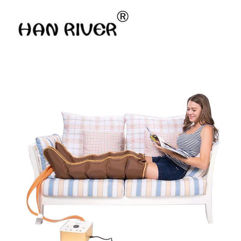 HANRIVER 2018 220 v heating old leg massager crus hot compress foot massager automatic air wave pressure therapy