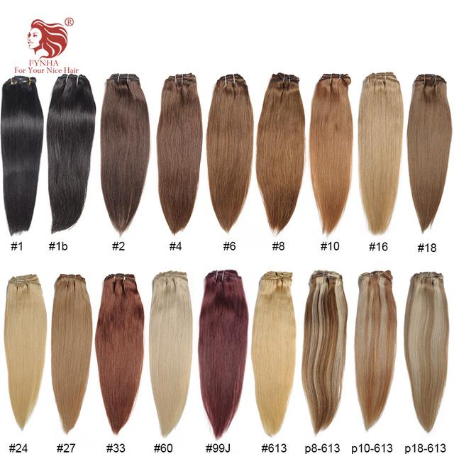 O envio gratuito de 100 g/pçs grau 6A natural remy um pcs clipe reta em extensões do cabelo 20-24 ''1 # 1b #2 #4 #6 #8 # pode ser personalizado