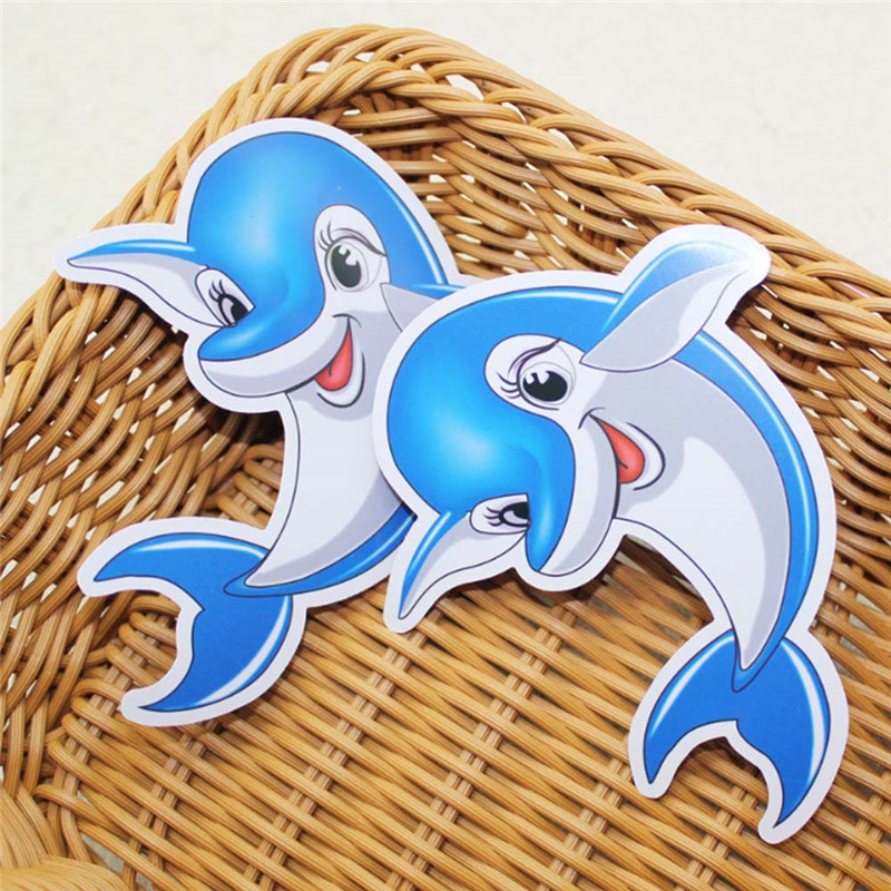 1Pc Baby Bath Float Fun Water Thermometer Cartoon Animal Model Dolphin Shower Card Hot and Cold Temperature Test Card Kids Gifts