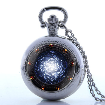 Luxury Golden Transparent Skeleton Steampunk Mechanical Hand Wind PocketWatch Hollow Out Gifts Pocket Watch Open Face - discount item  10% OFF Pocket & Fob Watches