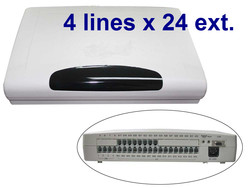 CP424 Office telephone switch / Phone exchang / PABX with 4 Lines x  24Extensions