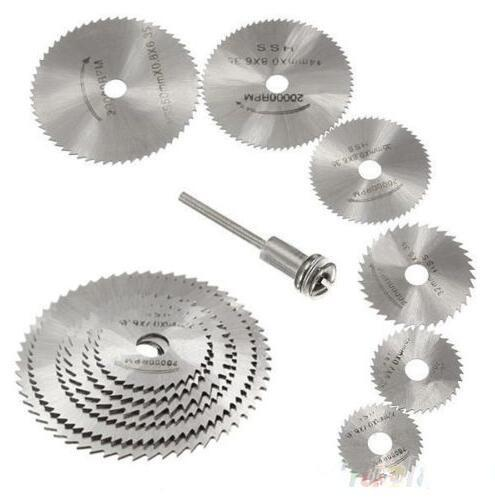 HSS Rotary Circular Cutting Discs Mandrel Saw Blades Tool 7pcs/set