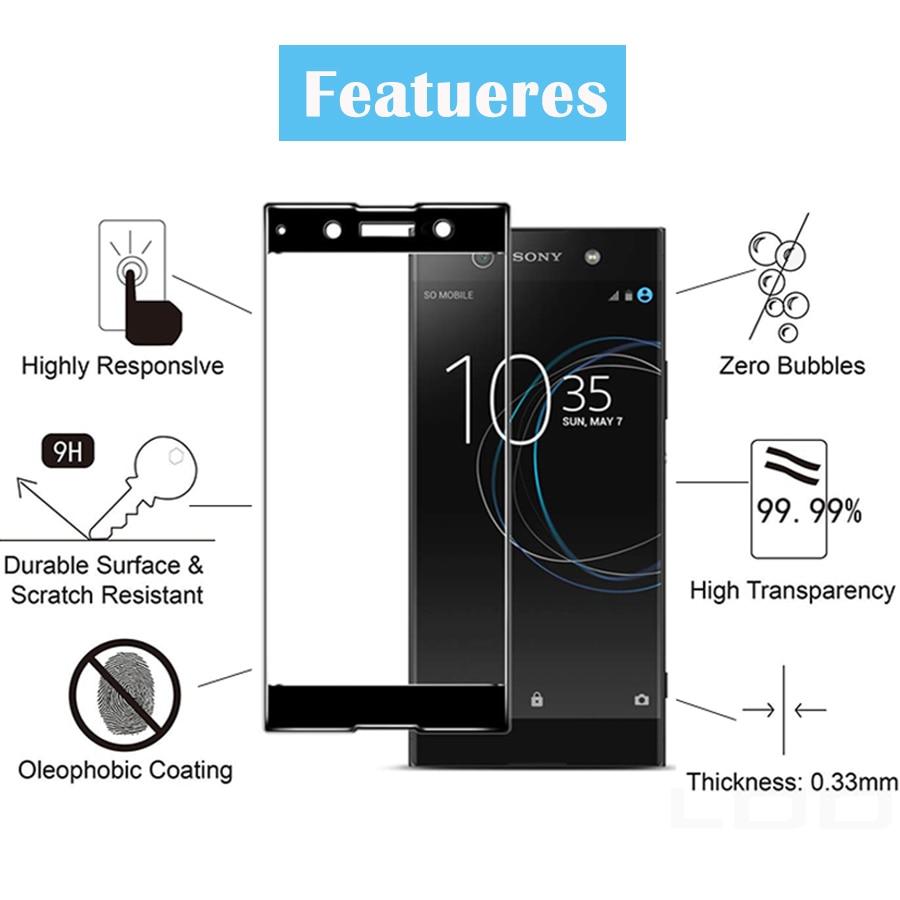 Tempered Glass For Sony Xperia XA1 XA2 XA3 Plus Ultra XZ4 Protective Glas Film Screen Protector On G3112 G3412 G3221 H4113 Cover