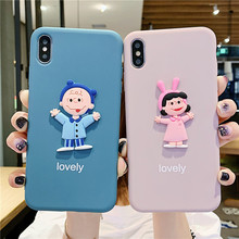 3D cartoon Charlie Lucy lovely case phone 6 6s for iphone 8 s 7 plus xs max scrub silicone soft cover xr x xsmax 10