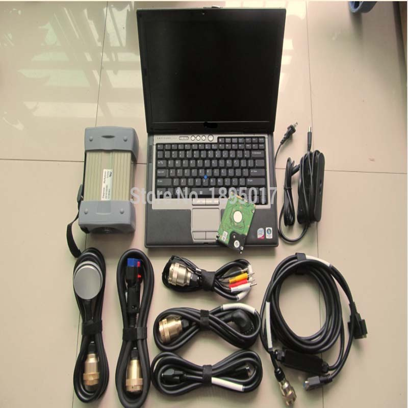 Mb Star C3 Red With 7 Cables Software Super HDD With Laptop D630 Touch Screen Diagnostic Tool For MB Cars & Trucks