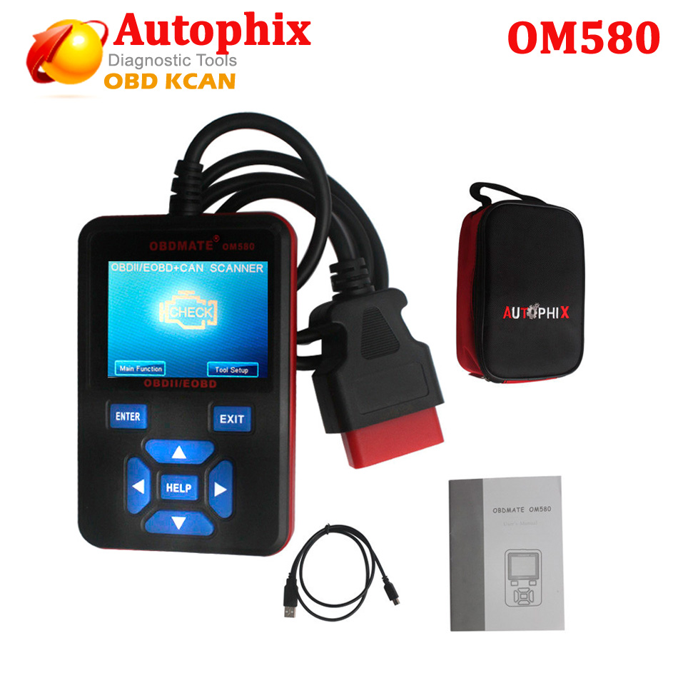 Free Shippinng Autophix OBDMATE OM580 OBD Automotive Scanner OBD2/EOBD Car Code Reader For Engine Fault Code Diagnostic Tool free customs taxes factory super power rechargeable 36 volt power supply 36v 20ah li ion battery pack