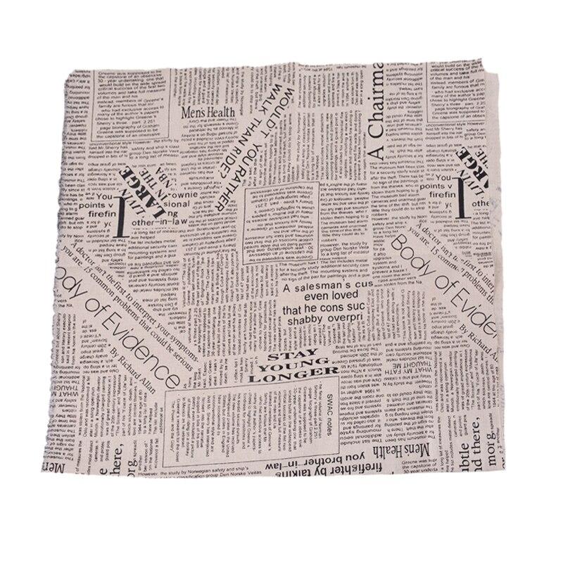 1PC Rose Linen Cotton Fibre Cloth Patchwork DIY Sewing Fabric 97x50cm