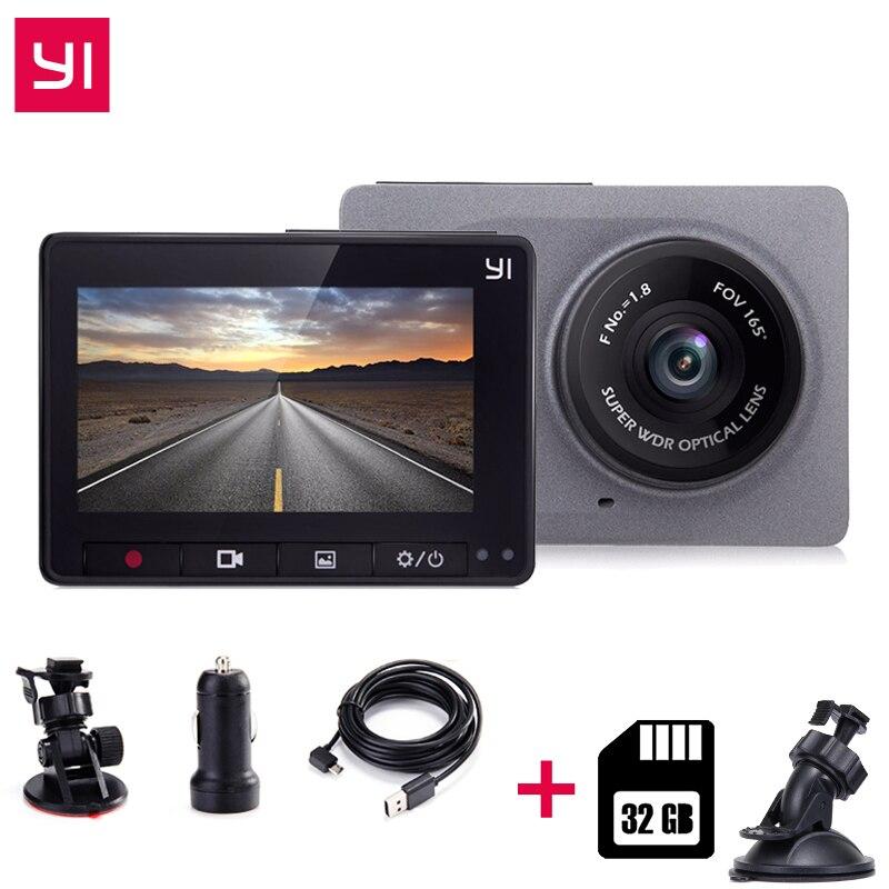 [Международное издание] Xiaomi YI Smart CarDVR + 32G карты 2,7 165 градусов 1080 P ADAS Xiaomi YI Smart wi-Fi действие DashCamera
