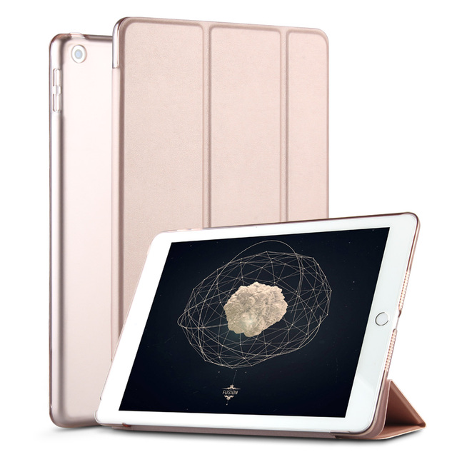 Case for New iPad 9.7 inch 2017 2018 Model A1822 A1823 A1893 , ZVRUA YiPPee Color PU Smart Cover Case Magnet wake up sleep