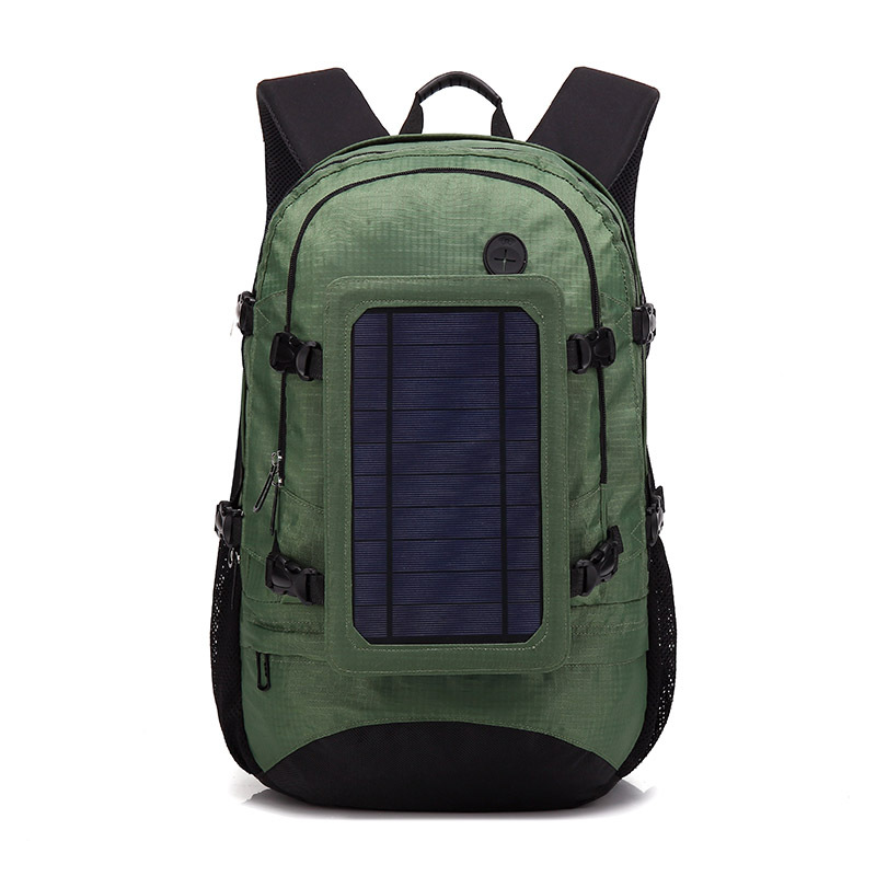 Outdoor Solar energy charge backpacks High capacity green waterproof travel backpack USB mobile phone back pack for sport fansOutdoor Solar energy charge backpacks High capacity green waterproof travel backpack USB mobile phone back pack for sport fans