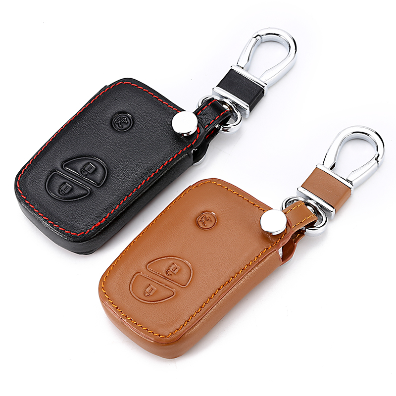 Leather Key Cover For Lexus CT200H <font><b>GX400</b></font> GX460 IS250 IS300C RX270 ES240 ES350 LS460 GS300 450h 460h Shell Case Car Accessories image