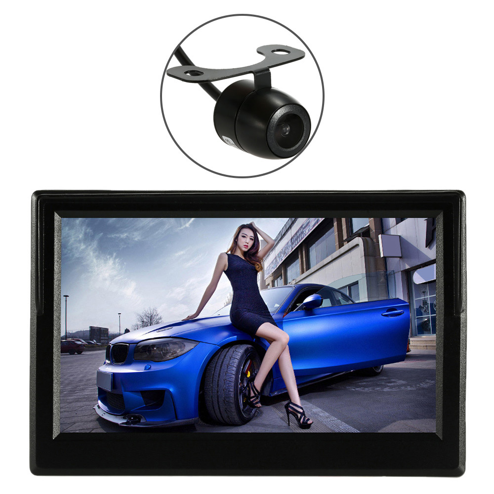KKmoon 5'' TFT LCD Display Car Rear View Bracket Mirror Monitor Parking Assistance With mini camera for car truck bus trailer kkmoon 5 tft lcd display car rear view bracket mirror monitor parking assistance with mini camera for car truck bus trailer
