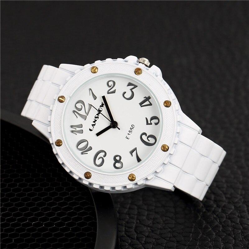 Top New Brand luxury women quartz-watch Imitation Ceramics ladies Analog bracelet watch women montre femme Dress wristwatches