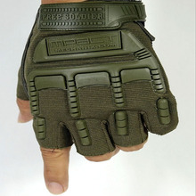 Outdoor Military Tactical Army Gloves Half Finger Slip Resistant