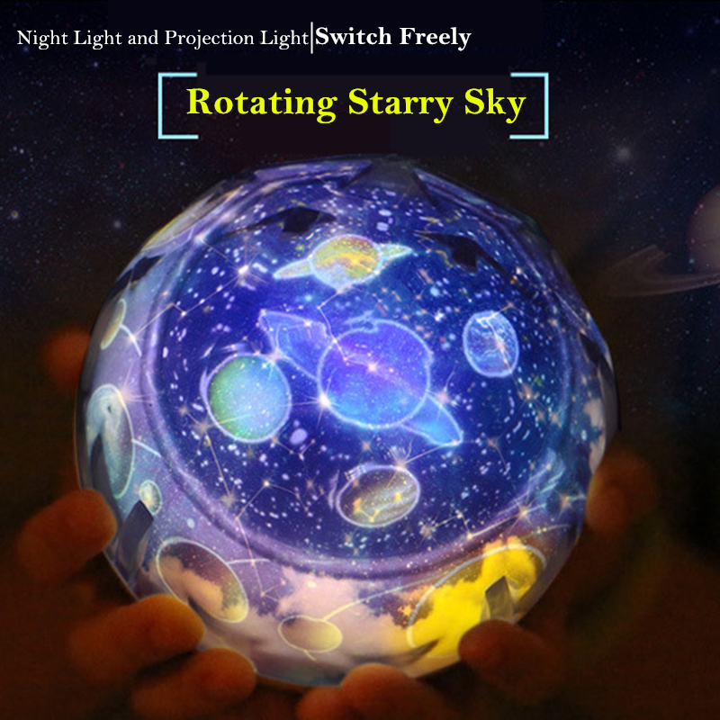 LED Night Light Starry Sky Star Planet Projector Lamp Magic Cosmos Universe Baby Nursery Light For Birthday Gift Moon Lamp night light rotary planet magic projector earth universe led lamp colorful rotary night lamp for kid baby christmas gift
