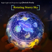 Moon Lamp Star Starry Projector LED Night Light Sky Magic Star Moon Planet Projector Lamp Cosmos 3D Universe Light For Kids Gift