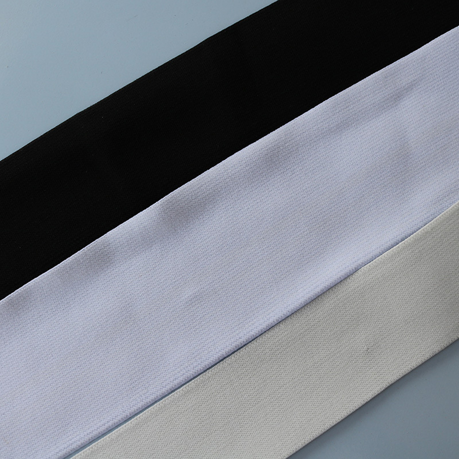 """White For Waistband Underwear Pants 10 Yards Knitted Elastic 1/"""" Wide Black"""