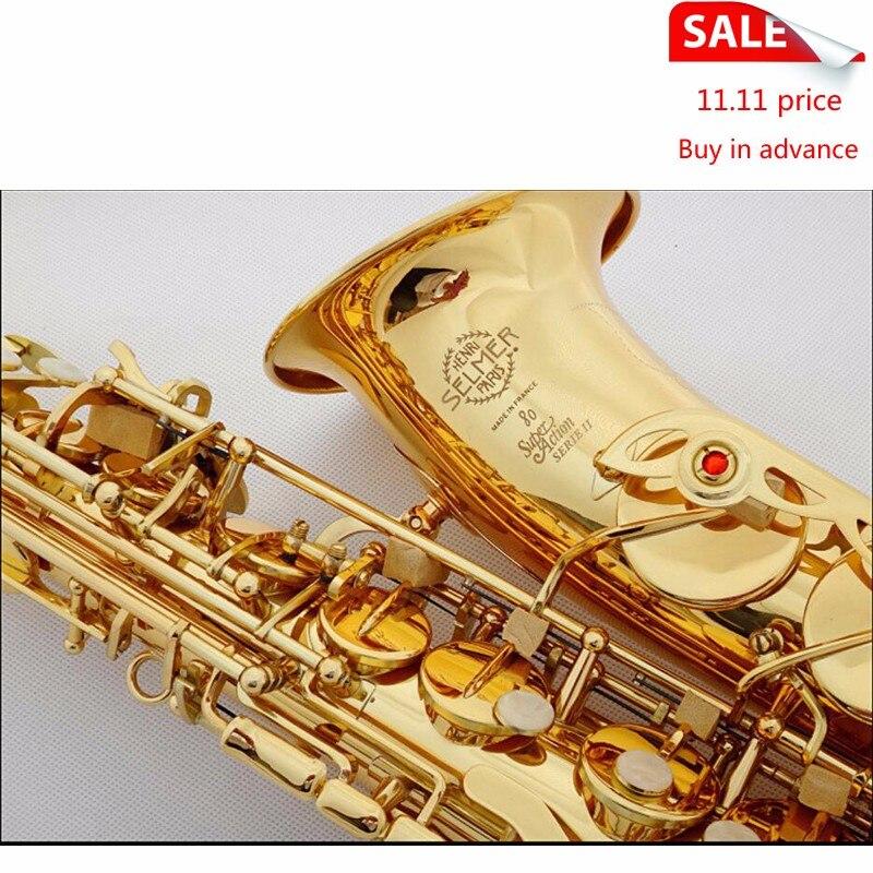 DHL/Fedex Free Selmer 802 Gold Plated Alto Saxophone Brand France Henri sax E Flat musical instruments professional E flat sax paulmann juna pendell 340 max1x20w softg ku holz